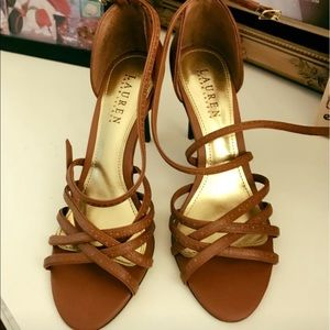 Shoes - Ralph Lauren strapped heels